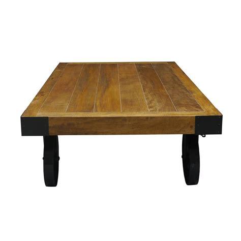 Vintage Coffee Table With Wheels Industrial Vintage Coffee Table With Wheels By The Orchard Furniture Notonthehighstreet