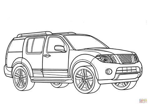 nissan cars coloring pages nissan coloring pages coloring nissan pathfinder coloring page free printable coloring