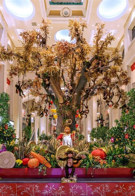 new year monkey display the venetian and the palazzo las vegas debut new
