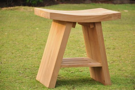 teak shower stool bench a grade asian teak shower bench bath stool shower bench