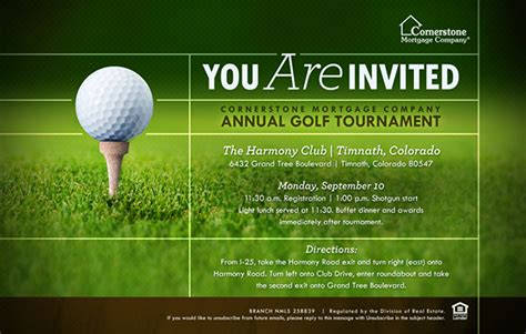 2012 Cornerstone Annual Golf Tournament Collateral On Behance Golf Tournament Save The Date Template