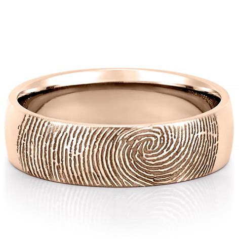 wedding rings with bands fingerprint wedding band s fingerprint on outside of
