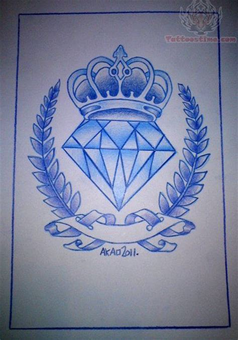 blue ink outline diamond tattoo design tattoos
