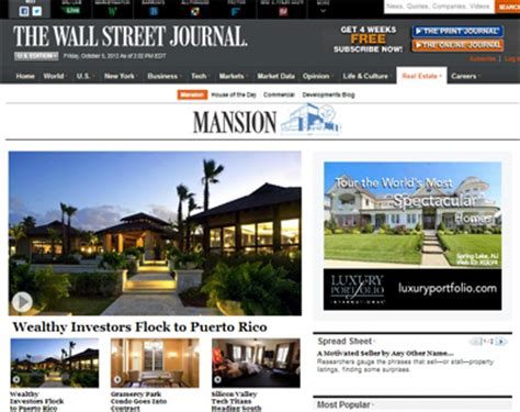 wall street journal real estate section luxury daily