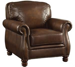Leather Sofa Chair Coaster Furniture Montbrook Brown Leather Chair 503983