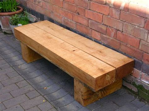 railway sleeper garden bench railway sleepers