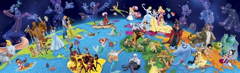 Best Terlaris Puzzle Jigsaw Disney Princess Panorama 1000 Pcs Sni disney panorama world of disney jigsaw puzzle