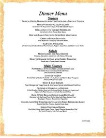 dinner menus carnival cruises dinner menu 1 carnival cruise ship