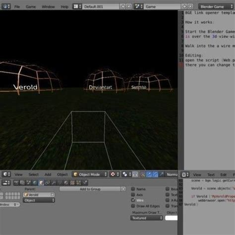 weblink opener template blender game eng free 3d