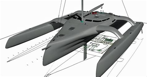 trimaran design principles trimaran projects and multihull news kurt hughes 75