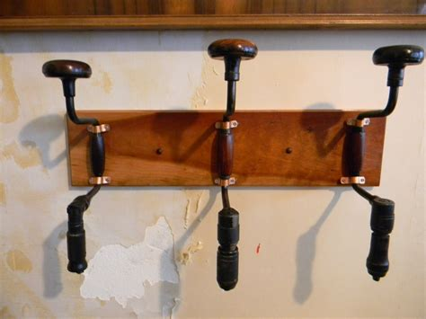 Repurpose Furniture Repurposed Hand Drill Coat Rack