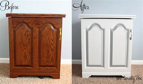Can You Paint Laminate Wardrobes by Sewing Cabinet Makeover Painting Furniture Two Twenty One