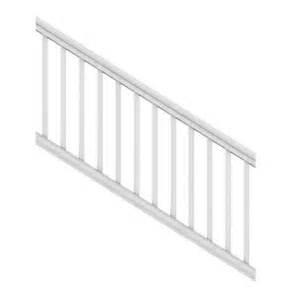Stair Kits Home Depot by Veranda 6 Ft X 36 In White Pro Rail Stair Kit 73013129