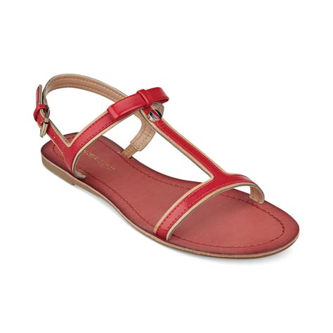 hilfiger flat shoes hilfiger womens lisel flat sandals in lyst