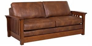 Mission Style Sofa Sleeper Mission Style Upholstered Furniture In Oak Maple Or Cherry Craftsman Style Sofa Thesofa Living