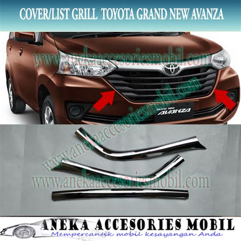 Garnish List Bumper Depan Grand All New Yaris list grill bumper toyota grand new avanza cover grill bumper toyota grand new avanza list