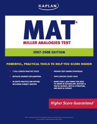 Uf Mba Miller Analogies Test by Which Book Should I Refer For Mat Entrance
