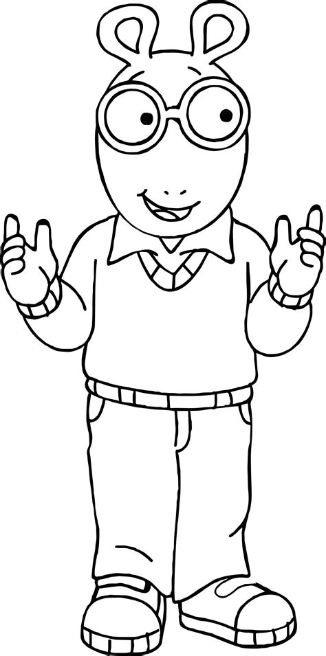 arthur coloring pages arthur read coloring pages coloring pages