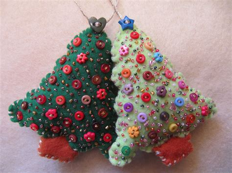 beaded felt christmas tree ornaments reserved for nancie