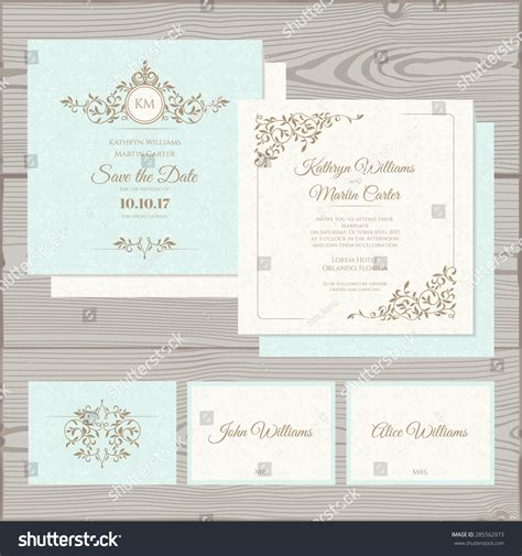 place card template stock wedding invitation save date card place stock vector