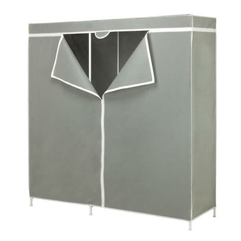 60 inch grey portable closet clothes organizer wardrobe