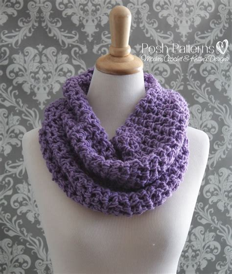 crochet pattern infinity scarf easy my crochet part 306