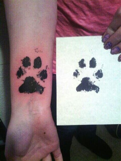 dog paw print tattoo on wrist 84 best images about on