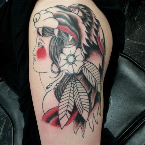 animal headdress tattoo lady in a animal headdress tattoo justin wilson pinterest