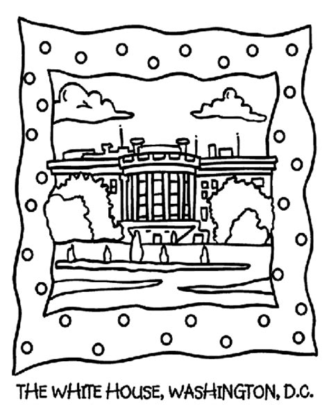 coloring page of white house the white house coloring page crayola com