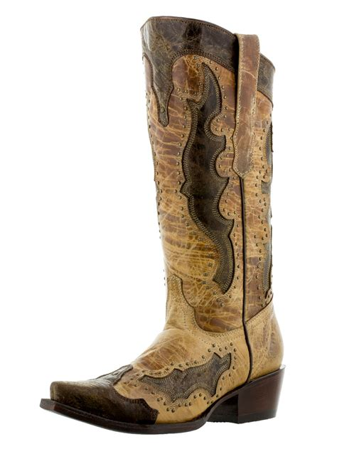 gold cowboy boots womens distressed sand leather cowboy gold studs