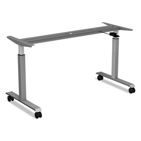 Casters For Height Adjustable Table Bases Black 4 Set Table Legs With Casters