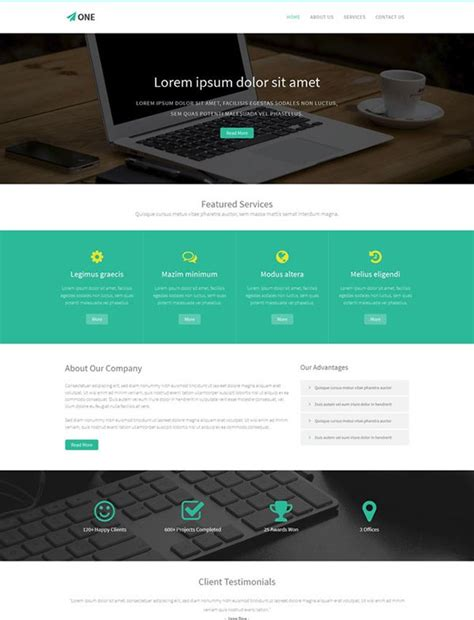 bootstrap templates for web design company 26 best free bootstrap html5 website templates february