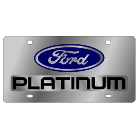 Ford Vanity Plates by Hossrods Ford Platinum License Plate Stainless Style Rod Accessories Garage Gear