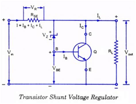 shunt type zener diode voltage regulator voltage regulators different types working principle design