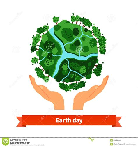 earth day concept human hands holding globe stock vector