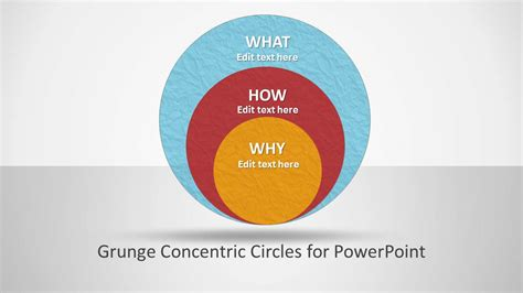 concentric circles powerpoint template grunge concentric circles for powerpoint slidemodel