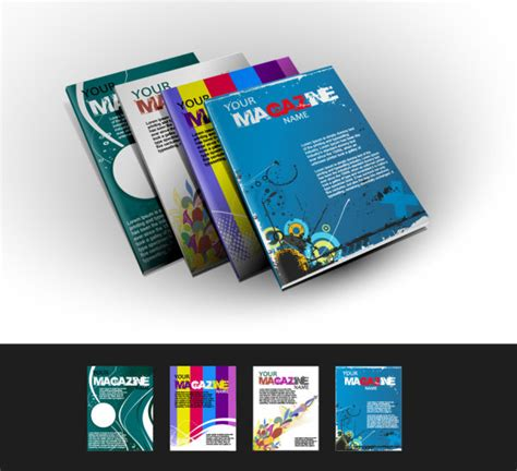 magazine layout design elements abstract magazine cover design elements vector 01 over