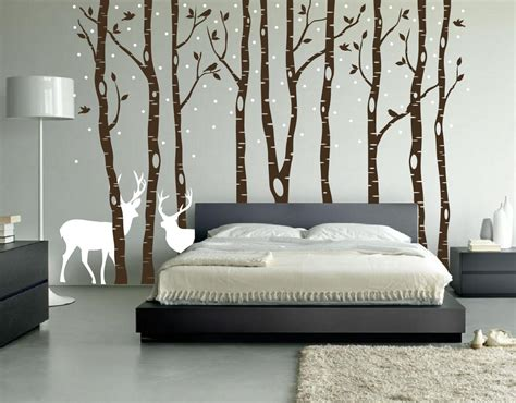 wall decals rooms birch tree winter forest vinyl wall decal