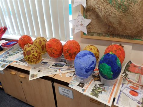 How To Make Paper Planets - papermache planets as part of our out of this