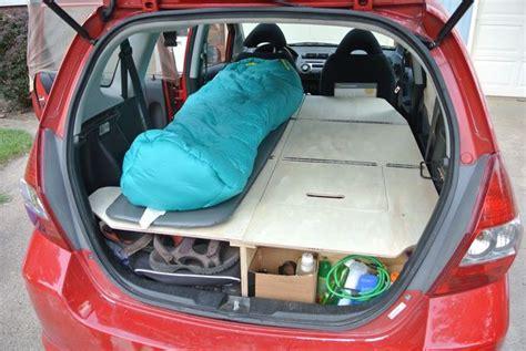 Platform Full Bed Frame - ultimate road trip car conversion honda fit