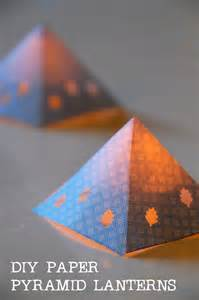 Diy Lantern Lights Diy Paper Pyramid Lanterns Tinkerlab