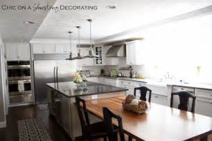 Islands Dining Room Chic On A Shoestring Decorating Client Kitchen Remodel Reveal