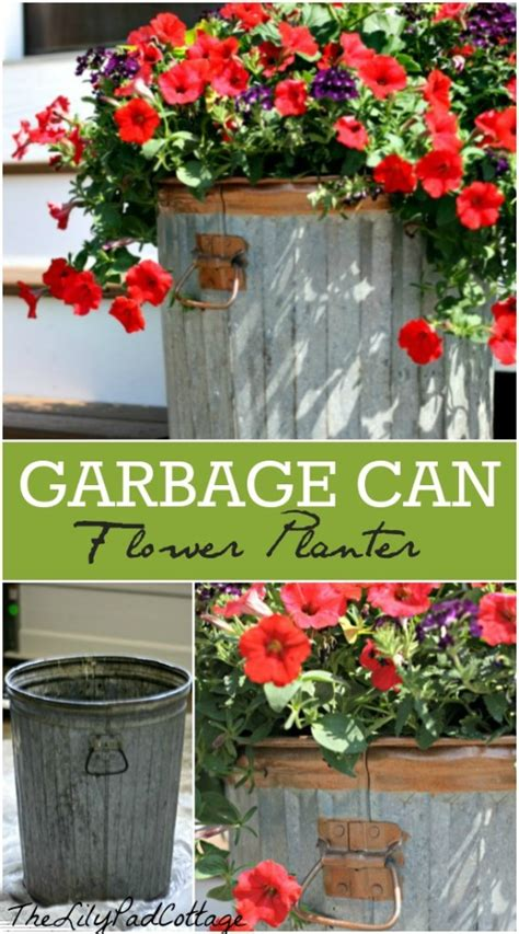 Trash Can Planter by 10 Diy Planter Boxes For Gardening Sober Julie