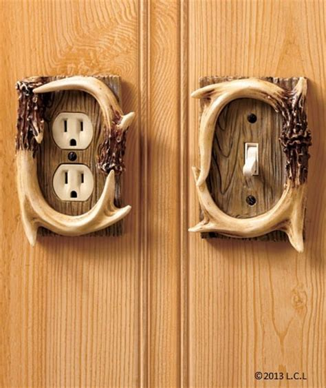 Door Knob Outlet by Decorative Antler Hardware Outlet Switch Covers Door