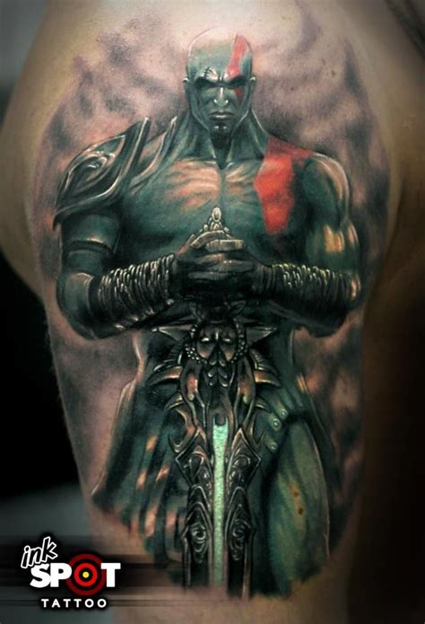 war tattoo armor of god kratos god of war by max