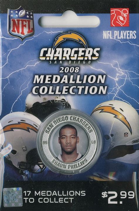shawn chargers shaun phillips san diego chargers 2008 medallion nfl