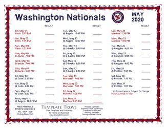 printable  washington nationals schedule