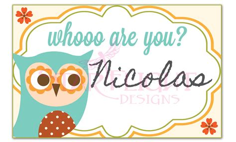 printable owl name tags whooo are you owl name tags printable pdf instant