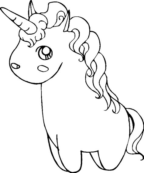 coloring pages of pink fluffy unicorns cute unicorn coloring pages getcoloringpages com