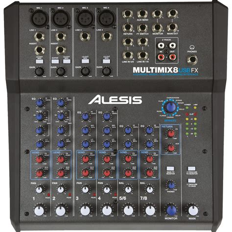 table de mixage alesis multimix 8 usb fx table de mixage alesis sur ldlc